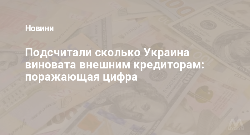 Подсчитали сколько Украина виновата внешним кредиторам: поражающая цифра