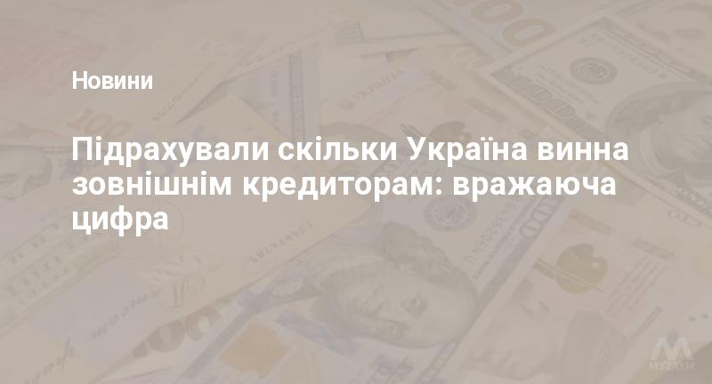 Підрахували скільки Україна винна зовнішнім кредиторам: вражаюча цифра
