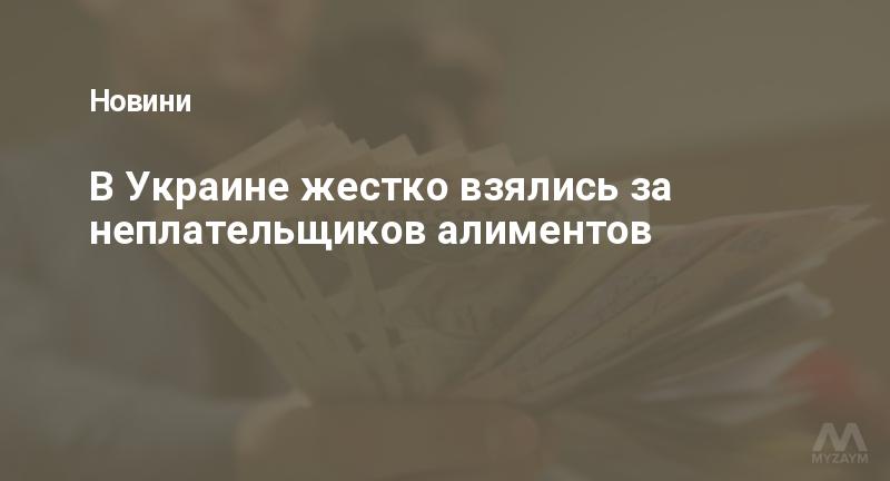 В Украине жестко взялись за неплательщиков алиментов