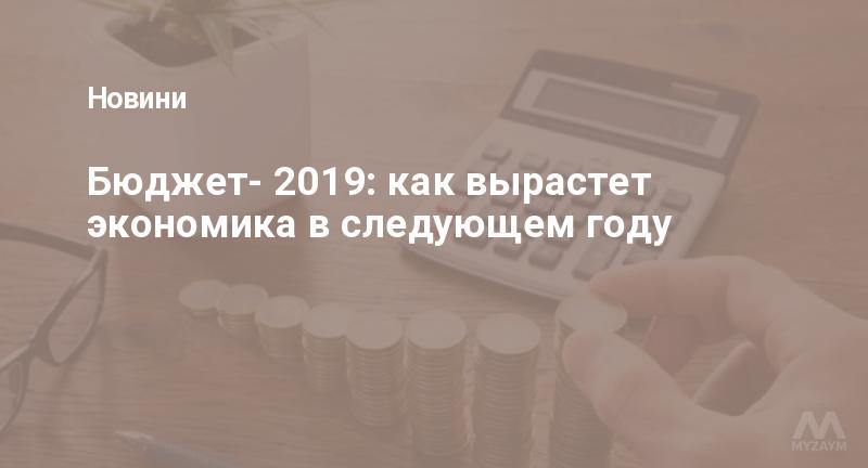 Бюджет- 2019: как вырастет экономика в следующем году