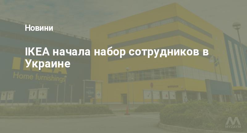 ІКЕА начала набор сотрудников в Украине