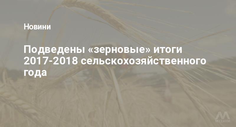 Подведены «зерновые» итоги 2017-2018 сельскохозяйственного года