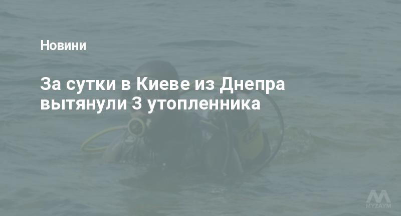 За сутки в Киеве из Днепра вытянули 3 утопленника