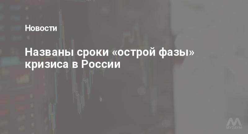 Названы сроки «острой фазы» кризиса в России