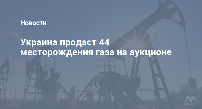 Украина продаст 44 месторождения газа на аукционе