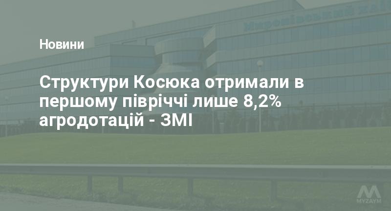 Структури Косюка отримали в першому півріччі лише 8,2% агродотацій - ЗМІ