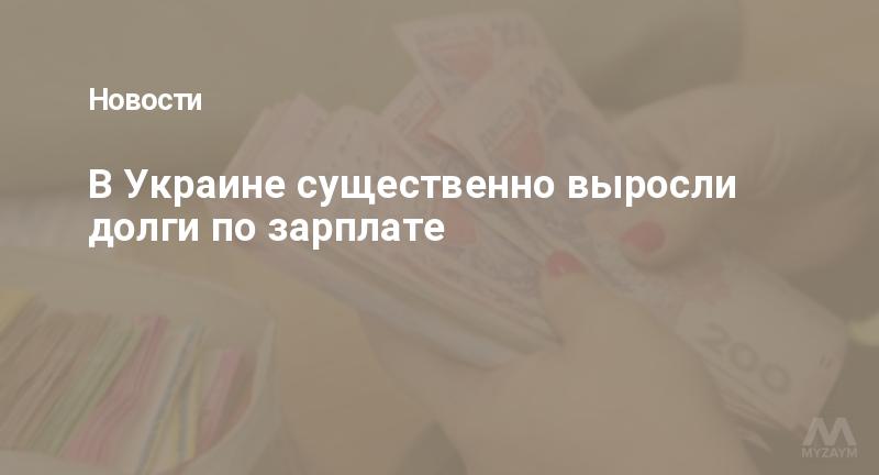 В Украине существенно выросли долги по зарплате