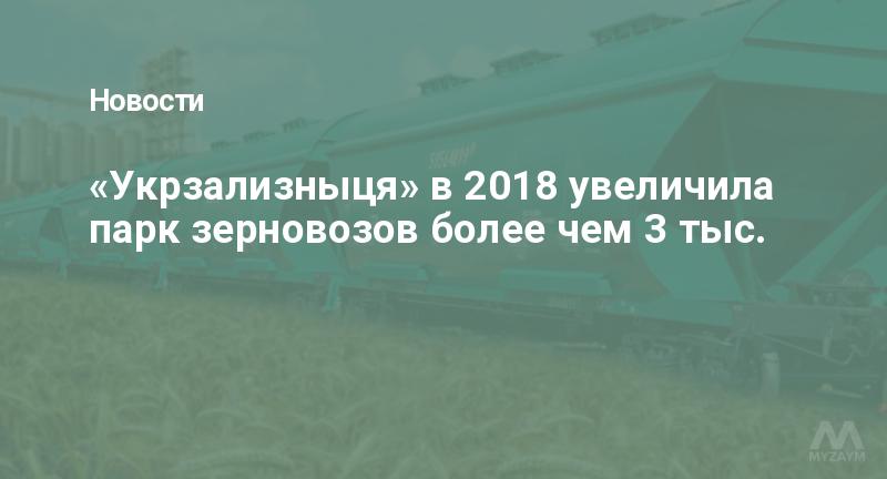 «Укрзализныця» в 2018 увеличила парк зерновозов более чем 3 тыс.