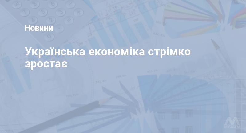 Українська економіка стрімко зростає