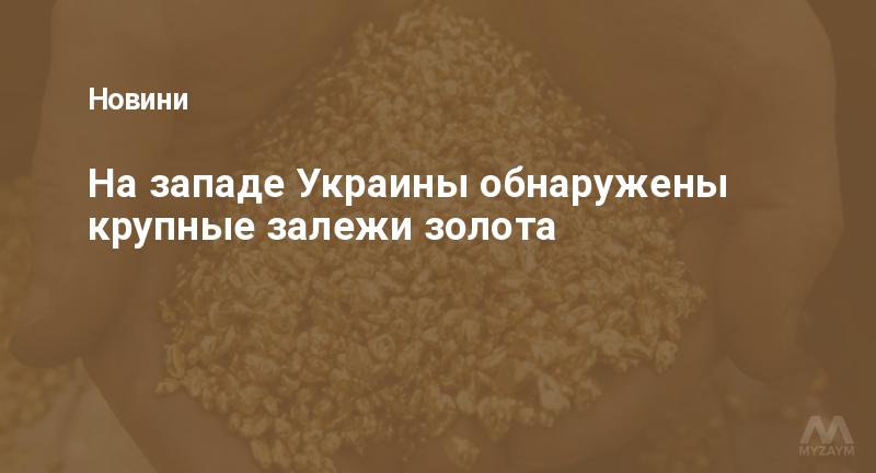 На западе Украины обнаружены крупные залежи золота