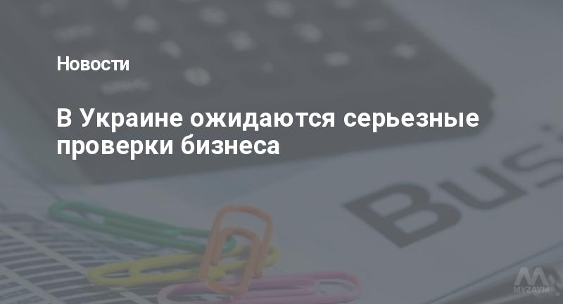 В Украине ожидаются серьезные проверки бизнеса