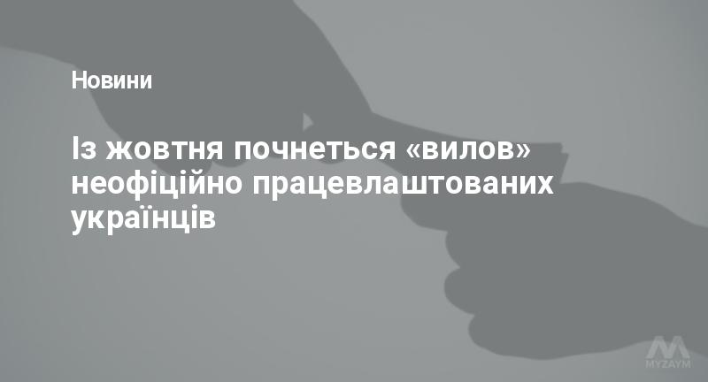 Із жовтня почнеться «вилов» неофіційно працевлаштованих українців