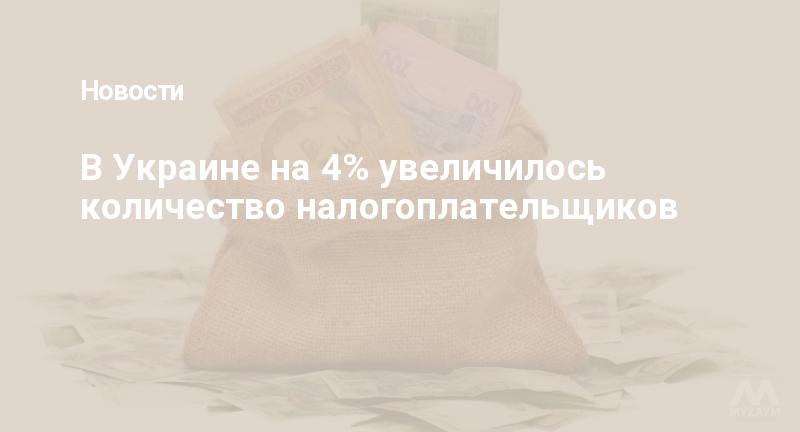 В Украине на 4% увеличилось количество налогоплательщиков
