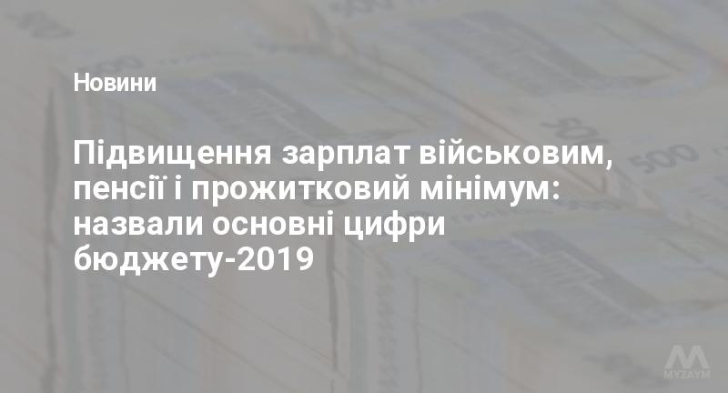 Підвищення зарплат військовим, пенсії і прожитковий мінімум: назвали основні цифри бюджету-2019