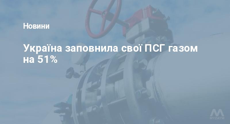 Україна заповнила свої ПСГ газом на 51%
