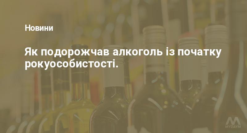 Як подорожчав алкоголь із початку рокуособистості.