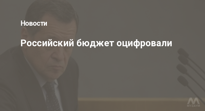 Российский бюджет оцифровали