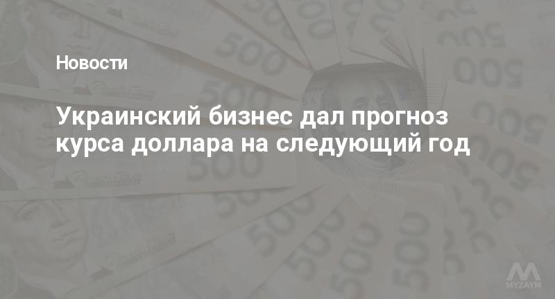 Украинский бизнес дал прогноз курса доллара на следующий год