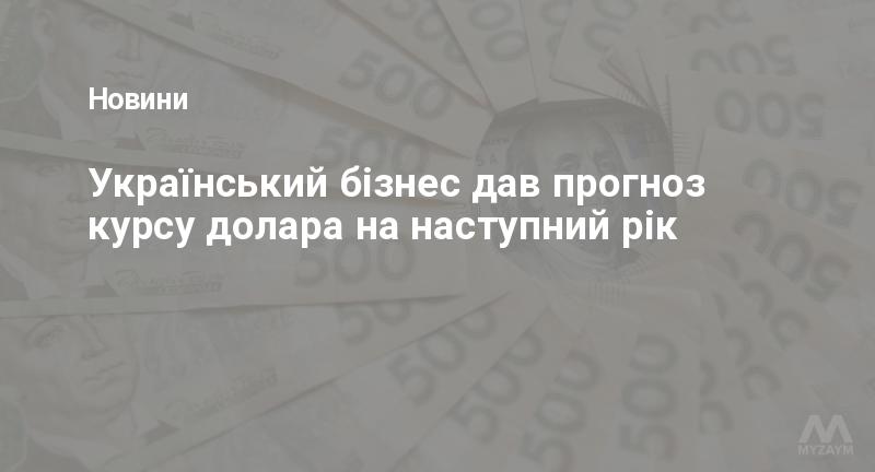 Український бізнес дав прогноз курсу долара на наступний рік
