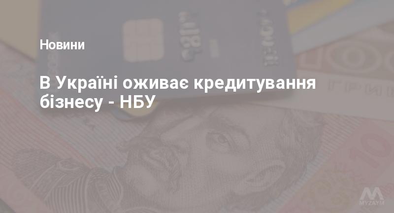 В Україні оживає кредитування бізнесу - НБУ